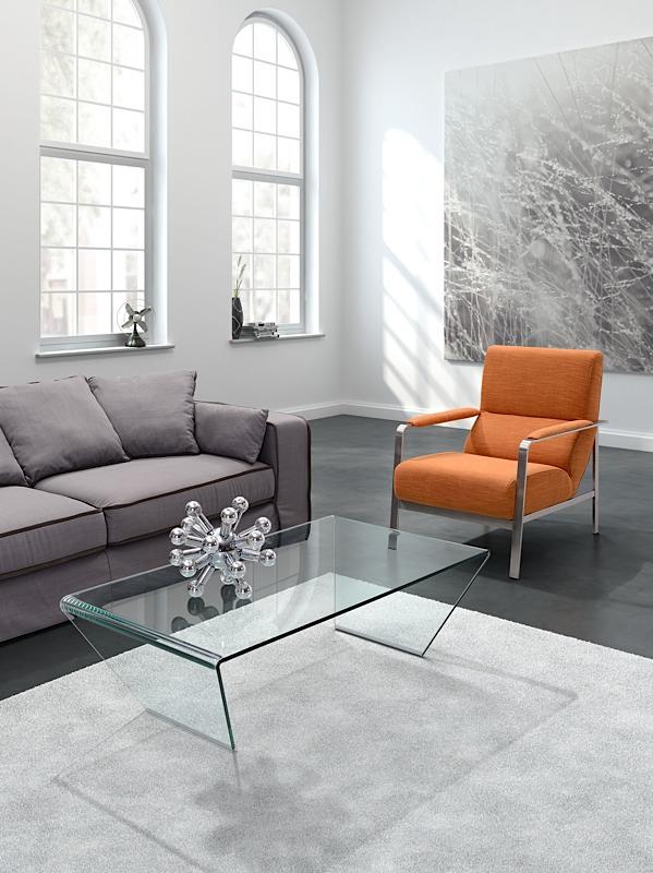Trapezio Coffee Table Clear Glass Modern Digs Furniture