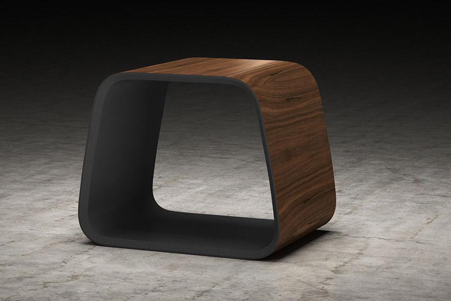 Cowley Stool Walnut Graphite Modern Digs Furniture