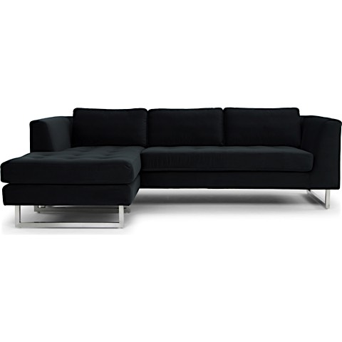Amazing Matthew Charcoal Tufted Sectional Sofa Modern Digs Ibusinesslaw Wood Chair Design Ideas Ibusinesslaworg