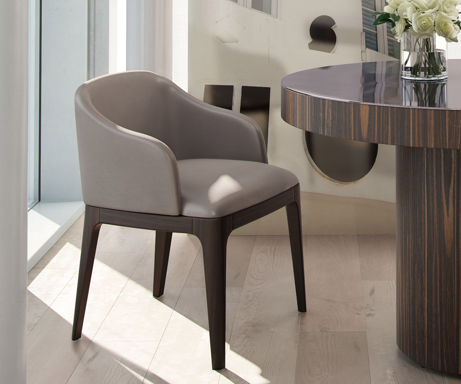Wooster Dining Chair   Castle Gray