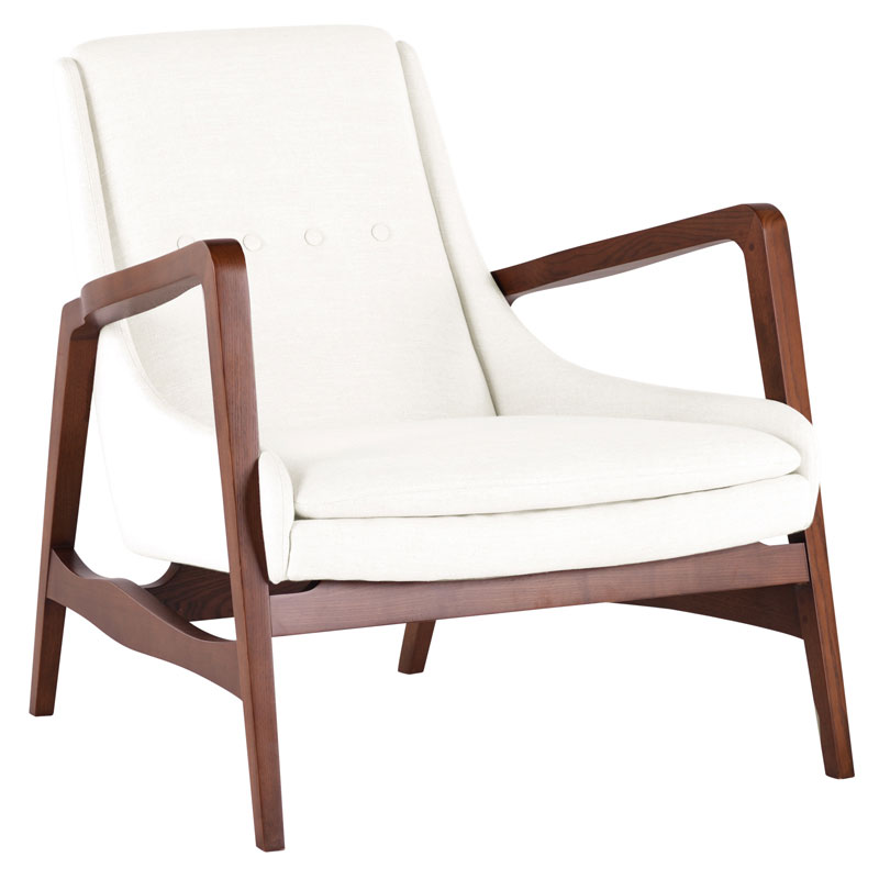 . Enzo Mid Century Modern Occasional Chair with Walnut Arms   Modern Digs