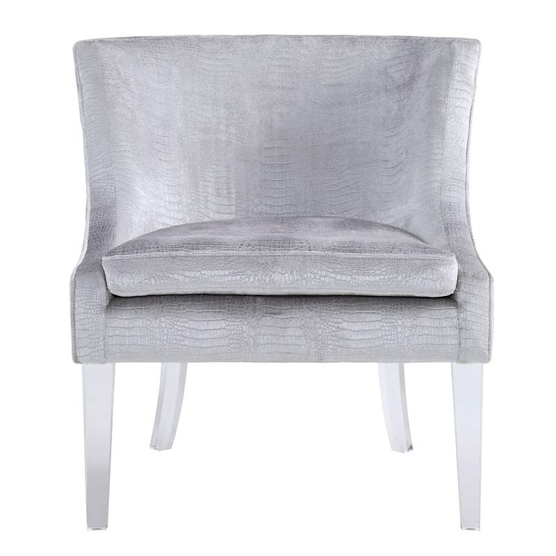 Myra Chair   Silver Croc