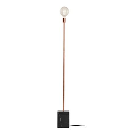 Nuevo's Slim Floor Lamp with Black Marble Base | Modern Digs