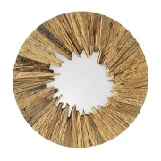 Wooden Sunburst Mirror
