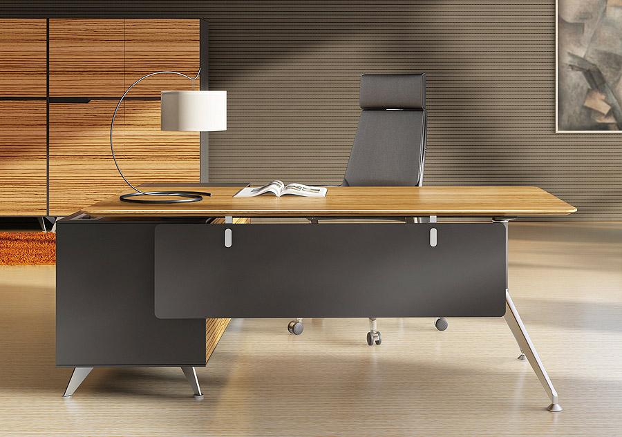 Arundel Executive Desk Zebrano Right Return