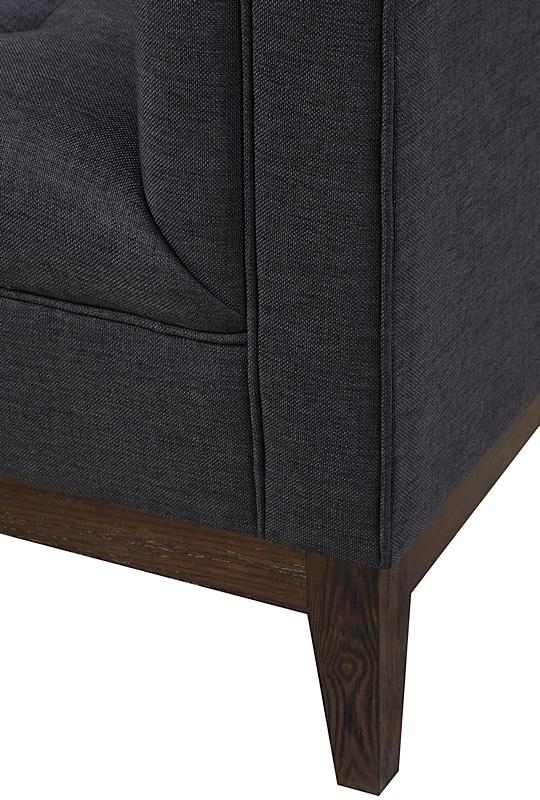 Gavin Linen Chair Grey Modern Digs Furniture