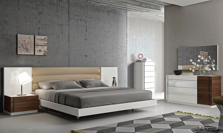 Lisbon Dresser White Walnut Modern Digs Furniture