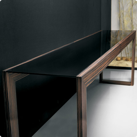 Hanover Console Table 79 Quot Ebony Modern Digs Furniture