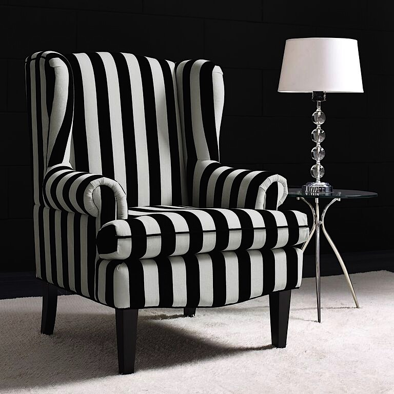 Paris Wingback Chair White Black Modern Digs Furniture