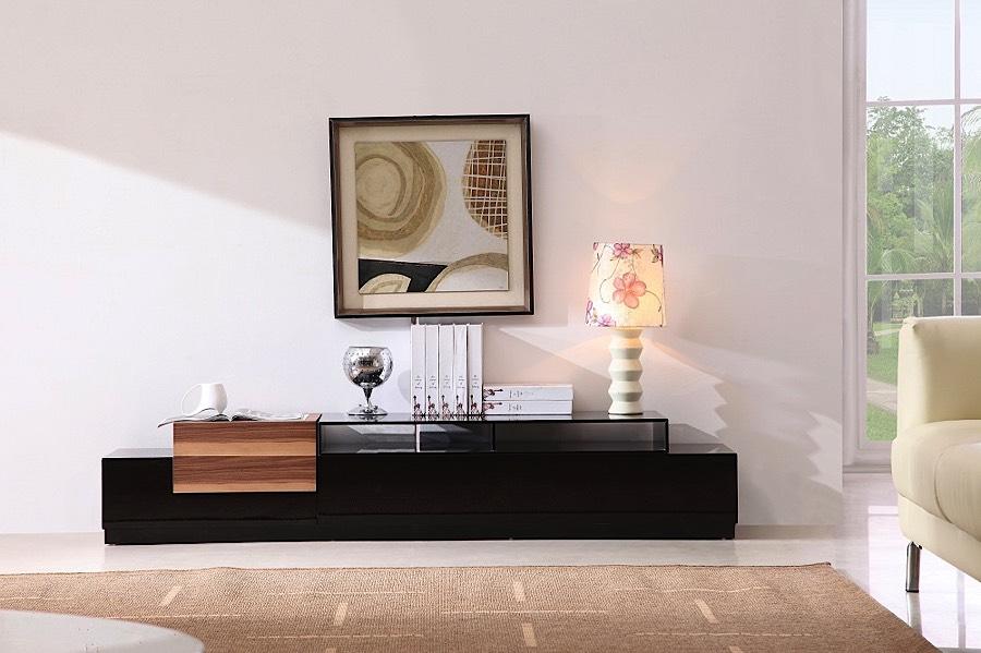Incroyable Blocks TV Stand   Black   Light Walnut