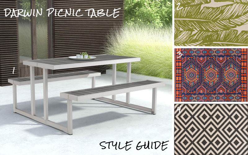 Darwin Picnic Table Style Guide Modern Digs - Aluminum picnic table frame