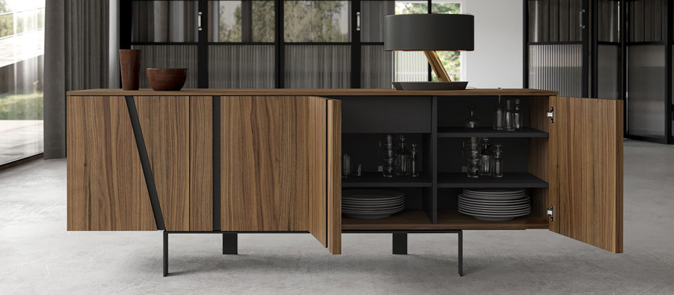Awesome Adding A Buffet, Sideboard Or Cabinet Into Your Modern Dining Space Gives  You The Storage You Need For Your Dishes And Servingware, Without  Sacrificing The ...