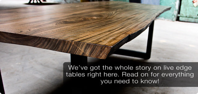 The Story On Live Edge Dining Tables