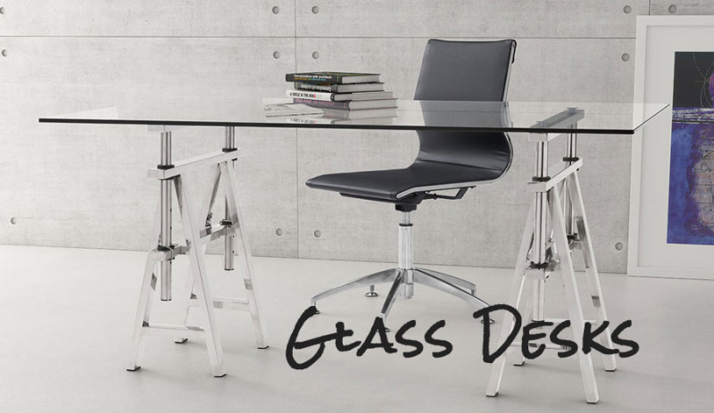 As You Can Imagine The Typical Glass Desk Is Decidedly Modern Or Contemporary Given Nature Of And Frankly There Are A Ton Options Out
