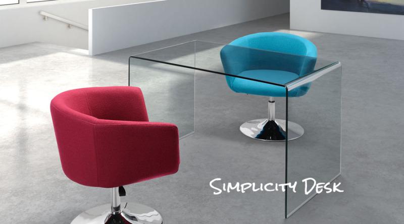Simplicity Glass Desk